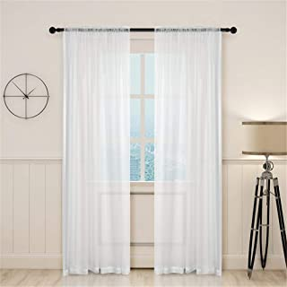Sheer Backdrop Curtains 2 Panel Rod Pocket Sheer Curtains Fine Workmanship Polyester Curtains for Living Room Bedroom Curt...