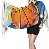 KENDIA Baloncesto colorido boceto disfrute suave chal bufanda cachemir cálido invierno bufanda envuelve chales de pashmina