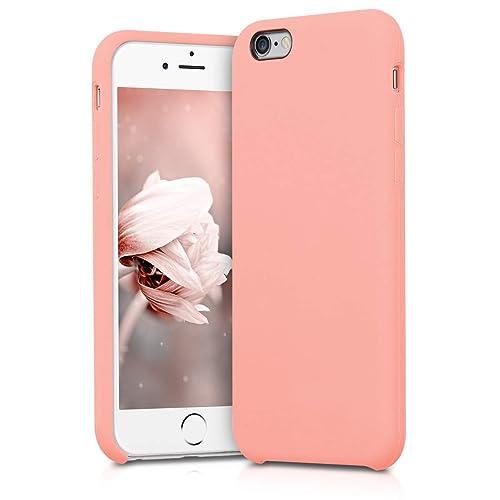 kwmobile Funda para Apple iPhone 6 / 6S - Carcasa de [TPU] para teléfono móvil - Cover [Trasero] en [Rosa Oro Mate]