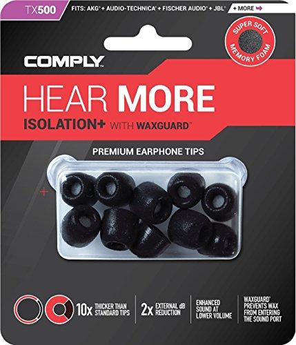 COMPLY (コンプライ) イヤホンチップ Tx-500 ブラック Mサイズ 5ペア (並行輸入品)