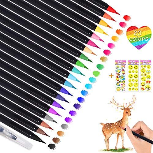 Wasserstifte,Wasserfarben Stifte,Pinselstifte Aquarell,Aquarellstifte Set,Brush Pen für Künstler,Pinselstifte für Malen Ausmalen Zeichnen,Stifte für Bullet Journal