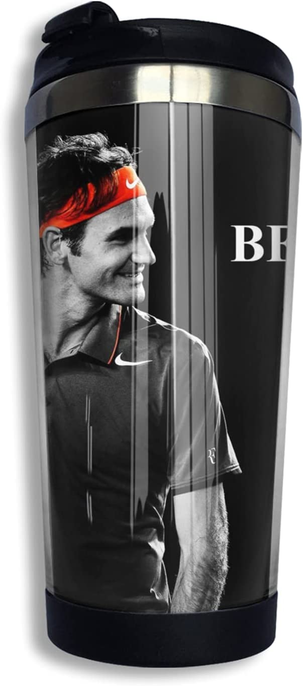 Roger safety Federer Insulated Free Shipping New Tumblers Coffee Travel Tumb With Mug Lid