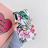 Herbests Kompatibel mit Samsung Galaxy Note 10 Hülle mit Ring Halter Ständer Handyhülle Blumen Blätter Muster Silikon Schutzhülle Crystal Case Ultradünn Stoßfest Rückschale Tasche,Rosa Blumen