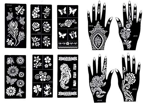 Gilded Girl Reusable Stencils for Henna Tattoo (10...