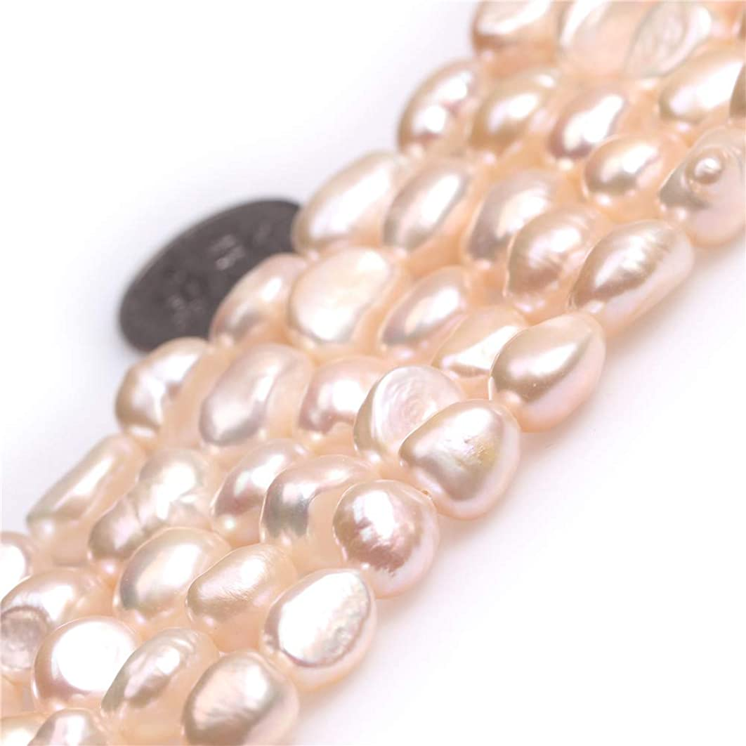 Freshwater Cultured Pearl Beads for Jewelry Making Gemstone Semi Precious 8-9x10-11mm Olivary Pink 15