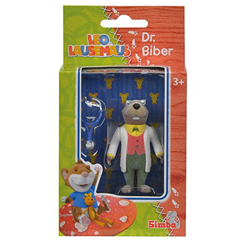 Simba 109222742 - Leo Lausemaus Figur Dr. Biber 7 cm