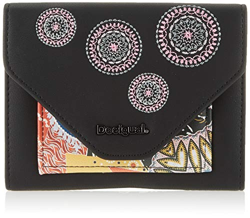 Desigual Wallet Guernica Lengueta Mini, Billetera para Mujer, Negro (Negro), 11x2.5x14 Centimeters (B x H x T)