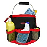 KUNN Car wash bucket tool organizer for 5 Gallon Bucket with Towel Holder Ring ,Soap pockets cleaning bucket organizer Water-resistant Mesh Pockets for Clean Supplier , Car Wash Supplier