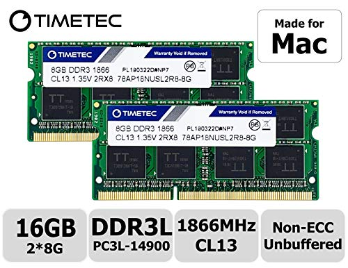 Timetec Hynix IC 16GB Kit (2x8GB) DDR3 PC3-14900 1866MHz Upgrade für Apple iMac 17,1 w/Retina 5K display (27-inch Late 2015) A1419 (EMC 2834) MK462LL/A, MK472LL/A, MK482LL/A (16GB Kit (2x8GB))