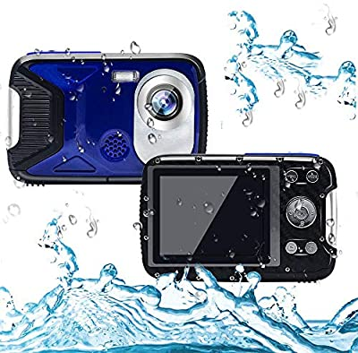 Cocac Waterproof Camera 21MP 1080P Underwater Digital Camera with Flash 2.8 Inch LCD, Rechargeable HD Digital Camera for Snorkeling/Travel/Swimming by Cocac