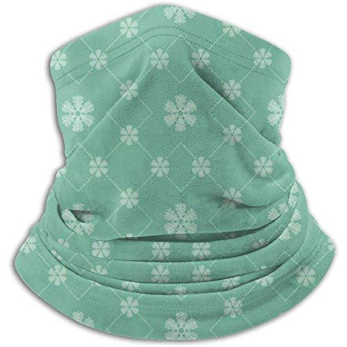 Linger In Green Snowflake Neck Gaiter Face Mask Bandana Seamless Headband Ski Riding Running