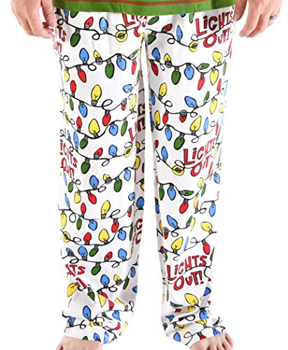 Lazy One Pajama Pants for Men, Men's Separate Bottoms, Lounge Pants, Animal, Christmas, Reindeer (Lights Out!, X-Large)