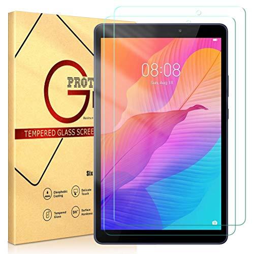 ZhuoFan Templado Protector para Huawei MatePad T8 8.0 Tableta, Protector Cristal de Pantalla de Vidrio Premium Transparente Templado [9H Dureza] para Huawei MatePad T8 8.0 Pulgada, 2 Pack