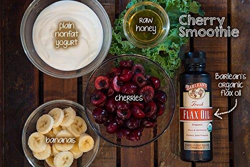 Product Image 4: Barlean's Fresh Flax Oil with 7,640mg ALA Omega-3 Fatty Acids for Improving Heart Health – USDA Organic, Non-GMO, Gluten Free – 16-Ounce