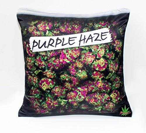 Purple Haze My Kush Printed 18 X18-inch Pillowcase Cover Cushion Weed Pillow Case Cannabis Marijuana Leaf Dope Design for Throw Pillow