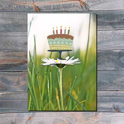 Postkarte⎜ Geburtstagskuchen No1 ⎜ Fotomontage ⎜Grußkarte Einladung