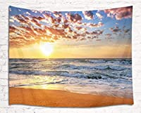 LB自然風景飾り タペストリー 美しい夕日と雲 おしゃれ壁掛け 装飾布 欧米風 壁飾り インテリア モダン 多機能 パーティー イベント リビング お店 個性ギフト お祝い (200x150cm)