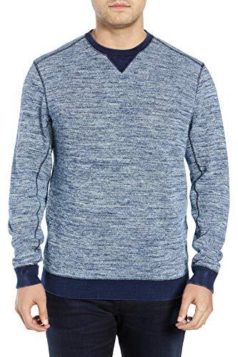 Tommy Bahama Crew Neck Sweatshirt Style Sporty T-Shirt, Indigo Sky (X-Large)