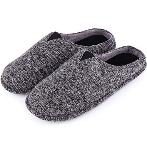 [Tophome] HomeTop メンズ 室内履き 温かいスリッパ ルームシューズ 来客用 滑止め洗える 低反発スリッパ
