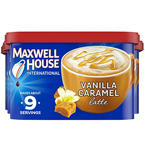 Maxwell House International Vanilla Caramel Latte Café-Style Instant Coffee Beverage Mix, 4 ct. Pack, 8.7 oz. Canister