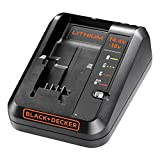 BLACK+DECKER 14.4-18 V Cordless Fast Charger for Power Tools with 2 Years Guarantee, 1 Ah Lithium-Ion, BDC1A-GB