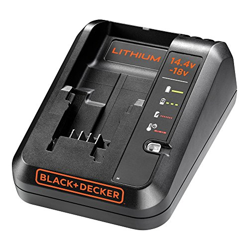 BLACK+DECKER BDC1A-GB Cordless Fast Charger for Power Tools with 2 Years Guarantee, 14.4-18 V, 16.6 x 14 x 9.4 cm, 1-Piece