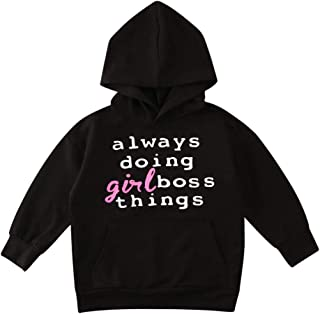 Toddler Baby Little Girls Hoodies Long Sleeve Pullover Sweatshirt Top Fashion Sweater Fall Clothes Outfit