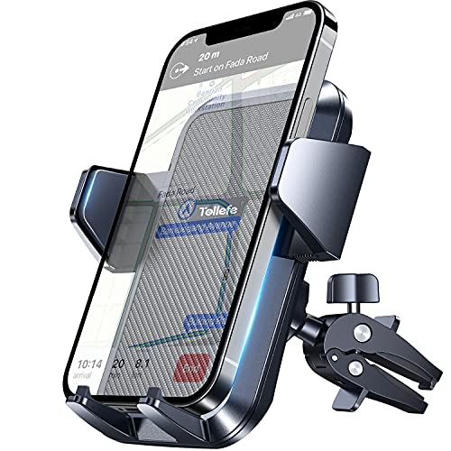 """Car Vent Phone Holder,TOLLEFE Air Vent Phone Mount,[Extra Strong Clamp] ,Upgrade Air Vent Strong Adjustable Clip, [Big Phone and Thick Cases Friendly] Compatible 4.0""""-6.8"""" Smart Phone"""
