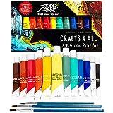 Crafts 4 ALL Set de Pintura Acuarela 12 Colores Premium para Artistas, Estudiantes y Principiantes – Perfecto para Paisaje y Pinturas sobre Lienzo