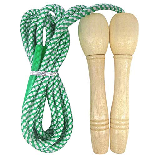 HZWLF Springseile Bearing Rope Skipping Children's Adjustable Wooden Jumping Rope Cotton Rope for Fitness Training/Game/Fat Burning Exercise