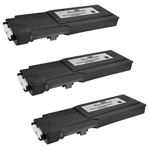 Speedy Inks Compatible Toner Cartridge Replacement for Dell C2660 C2660dn C2665dnf High-Yield (Black, 3-Pack)