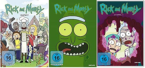 Rick & Morty Staffel 2-4 (2+3+4, 2 bis 4) [DVD Set]