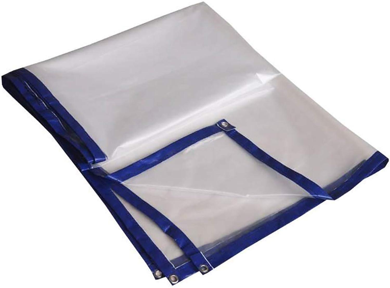 Tarpaulin Thicken Waterproof PE Garden Transparent Cloth Balcony Sunscreen Plastic Film Insulation Tent, 150g  m2 LBHQF (color   8mx8m)
