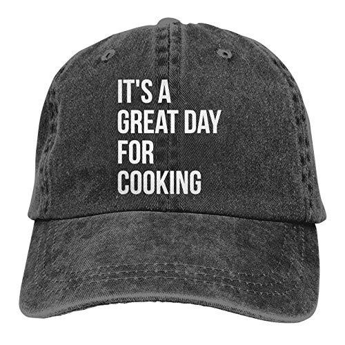 N \ A Es un gran día para cocinar unisex suave Casquette Cap Vintage ajustable Retro Gorras béisbol gorras negro