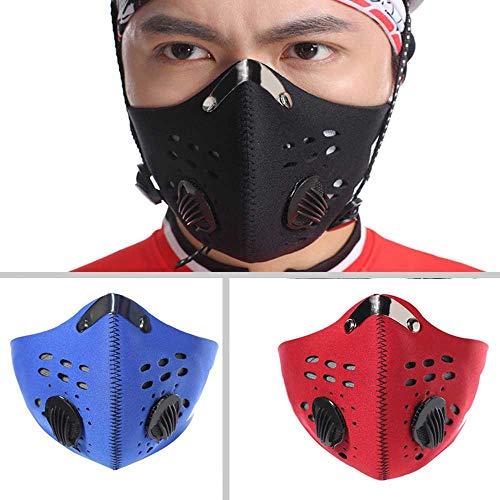 Scopri offerta per Maschera anti-polvere, per ciclismo, mountain bike, corsa, ciclismo, filtrazione, scarico anti-inquinamento, anti-inquinamento, maschera al carbone attivo, Rosso