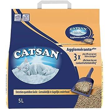 Animalerie CATSAN - Litière Minérale Agglomérante pour Chat 5L - Lot De 2