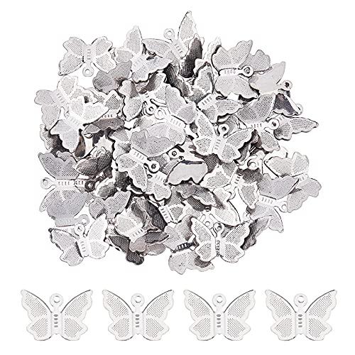 UNICRAFTALE Alrededor de 300pz Colgante de Diseño de Mariposa Encantos de Acero Inoxidable Encantos...