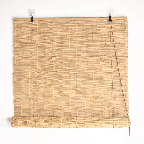 Bamboo curtain Cortina de Parasol, persianas Retro, privacidad de Espacio, ventilación Natural