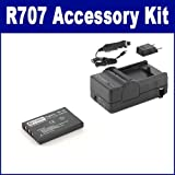 Digital Cameras Accessory kit, Compatible with HP PhotoSmart R707 Digital Camera, Includes: SDM-143 Charger, SDNP60 Battery
