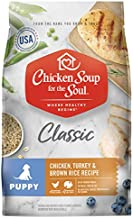 Chicken Soup for The Soul Puppy Food, Chicken, Turkey & Brown Rice Recipe, 28 lb. Bag | Soy Free, Corn Free, Wheat Free | Dry Dog Food Made with Real Ingredients, 101022