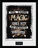 Harry Potter 1art1 Wands Out Gerahmtes Bild Mit Edlem