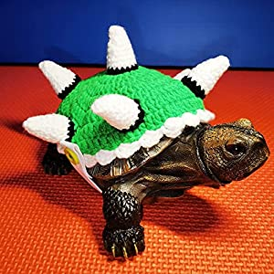 FORZENA Sweater for Turtle - Small Animal Sweater Warm Winter Knitted Handmade Sweater Apparel Accessory Halloween Party Cosplay Costume Photo Shoot for Pet Tortoise Turtle (L,Dinosaur C)