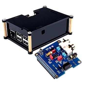 ★★ご注意:dac I2S サウンドカードはRaspberry pi 4B 3 2 Model B B+に対応できます、 保護ケースはRaspberry pi 4Bに対応できないです、。★★ PiFi Digi / DAC+ / HIFI デジタルオーディオカードピンボード。 pcm5122 I2S DACチップとインターフェース。 Raspberry Pi 4B 3 ボードに適用する時 、制品はruneaudioとOSMCシステムにサポート、volumioシステムではない。