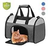 SENGU Pet Soft-Side Carrier for Cats Dogs (16'x10'x11', Grey)