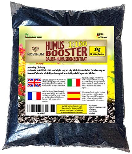 Humusziegel NOVIHUM Hochbeeterde - Booster für Hochbeet - Bodenverbesserer - Konzentrat 1:100, 1 kg