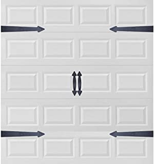 Garage Door Decorative Hardware, Magnetic Faux Hinges Handles Carriage-Style Accents Trim Hardware All Season Weather Resistant Non-Fade Easy Installation for Metal Garage Door