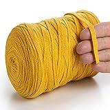 MeriWoolArt - Hilo de algodón para tejer, macramé, ganchillo, tejer, cinta de regalo para Navidad, 10 mm, 150 m