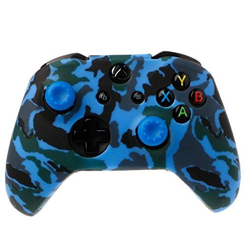 Preisvergleich Produktbild FXCO Camouflage Silikon Gamepad Cover Silikon Gamepad Hülle + 2 Joystickkappen für Controller (5 )