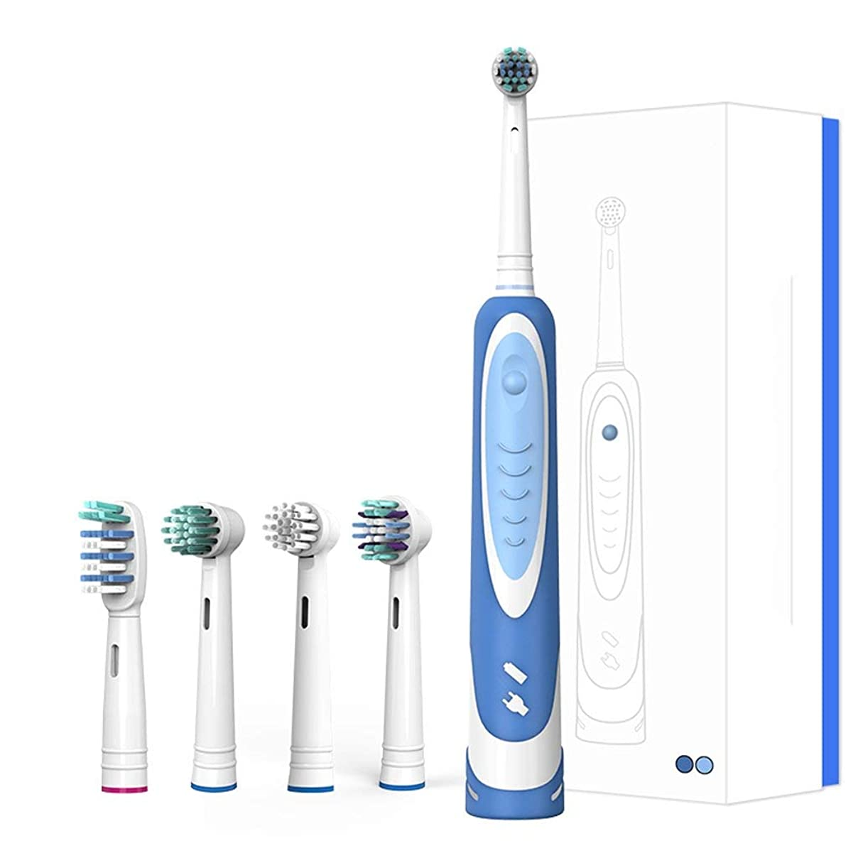 地上の切るなす電動歯ブラシ大人回転式電動歯ブラシ防水スマート歯ブラシ2分スマートタイマー2ブラッシングモード持ち運びが簡単