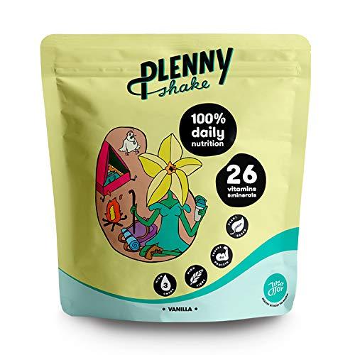 Jimmy Joy Vainilla Plenny Shake, 5 Bolsas x 4.000 kcal, Sustituto de Comida, Nutrición Completa 26 Vitaminas y Minerales, 20gr Proteína, Vegano, Sin Lactosa, Sin OGM